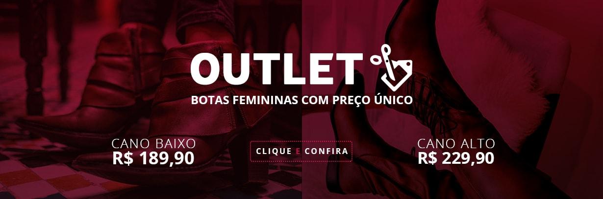 Banner - Outlet Botas Femininas Preço Único