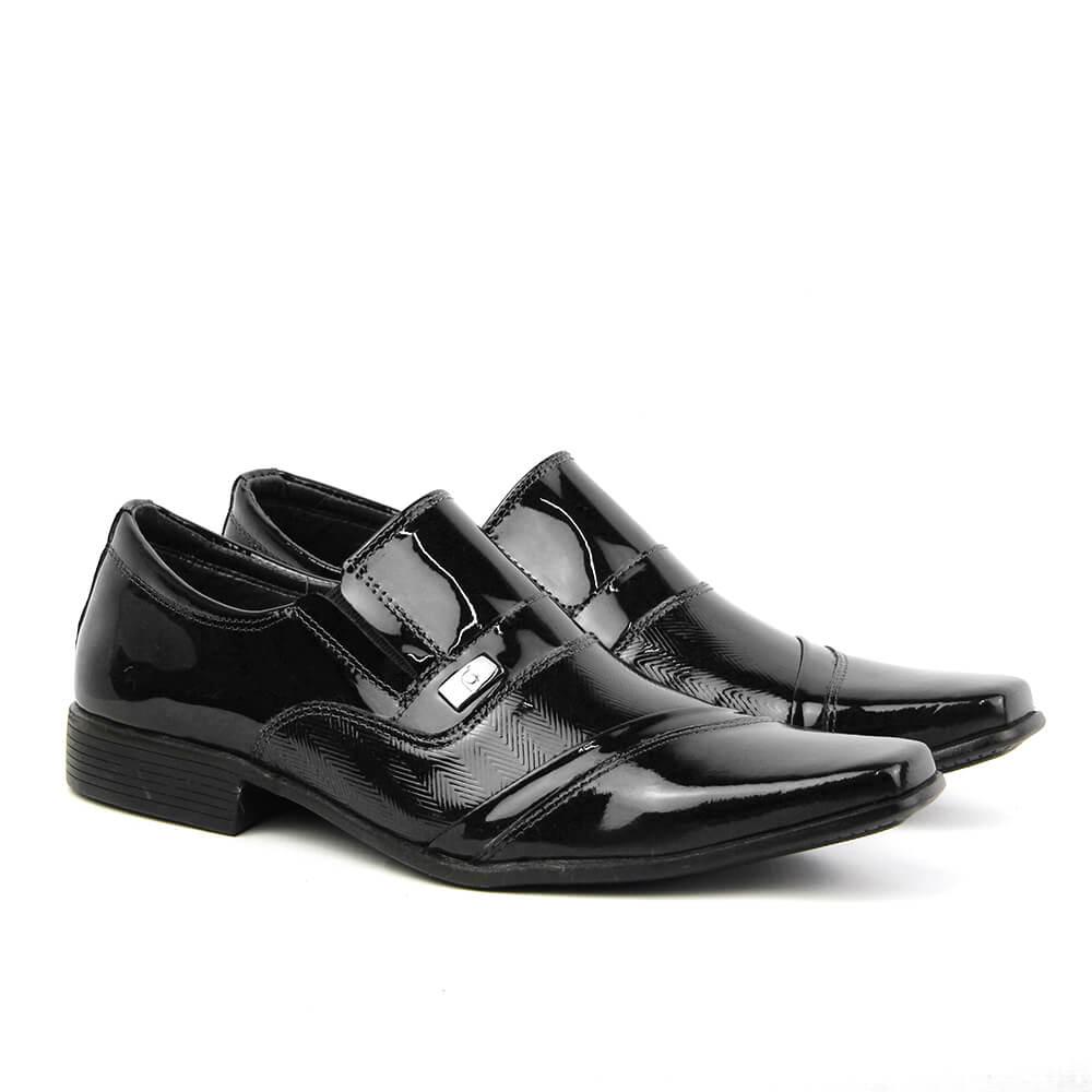 2a0e92116 Sapato Social Masculino 3816 Verniz Preto - Perlatto