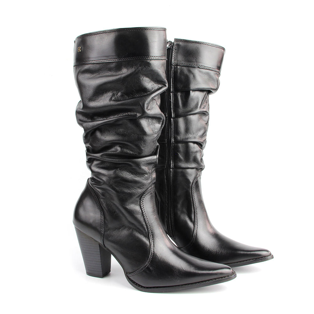 Bota Country Feminina F744 Preto - Perlatto 68f06cd04fb