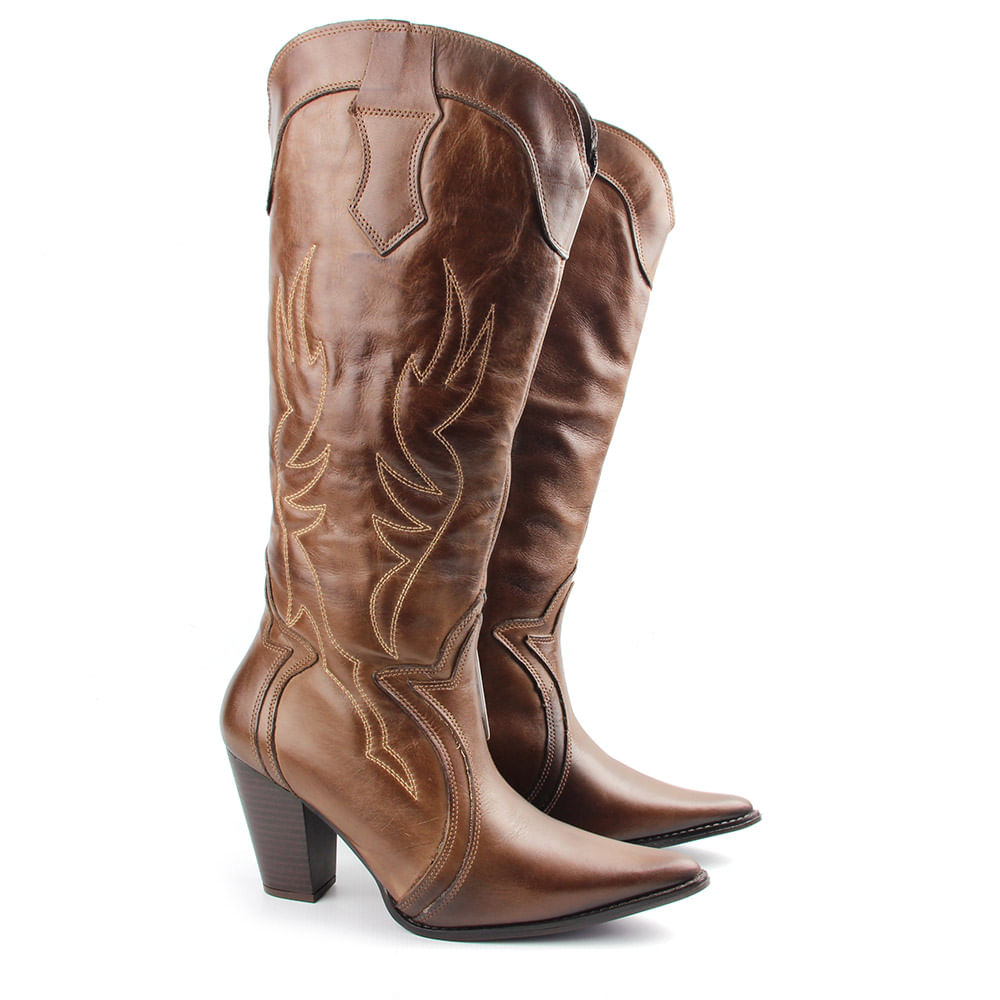 Bota Country Feminina F709 Tabaco Burned - Perlatto c8f0e20bbaa