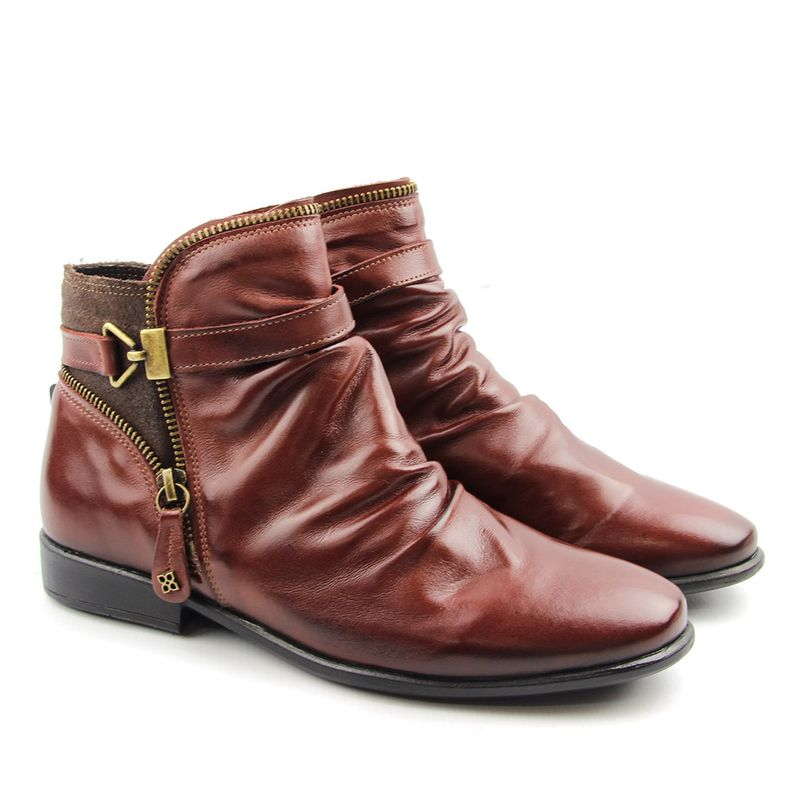 3587fa6777 Bota Feminina Cano Baixo F645 Rosso   Destroyer Café Burned