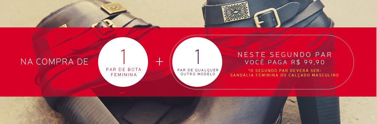Banner - Compre Bota + Segundo Par