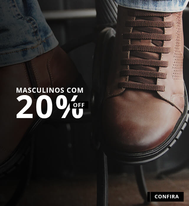 Banner - Masculinos 20% OFF - MOBILE