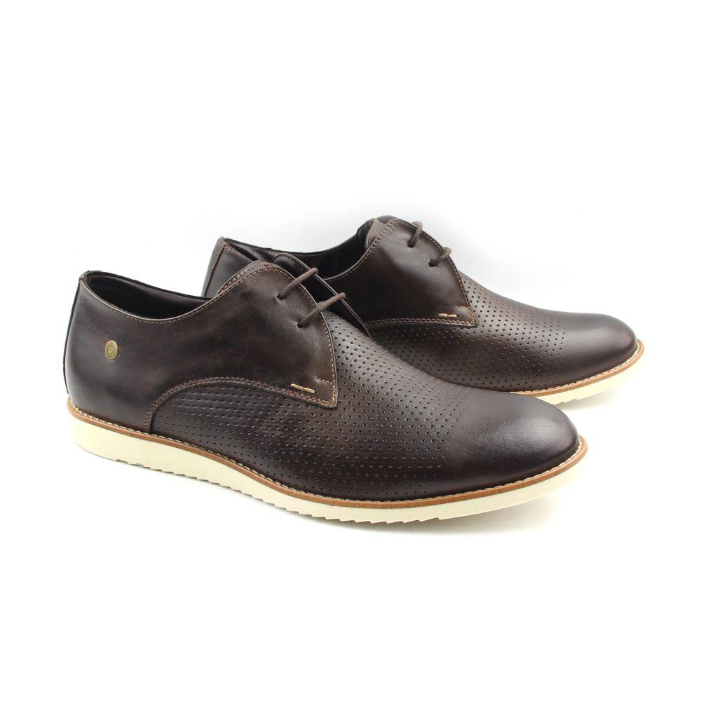 c20889cde Sapato Casual Masculino 8406 Café Burned - Perlatto