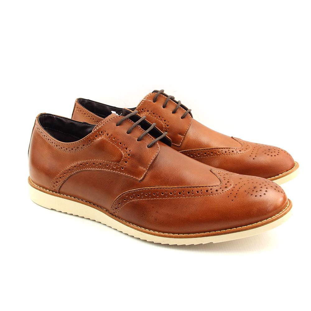 1ab82052e6 Sapato Casual Masculino 8405 Tan Burned - Perlatto