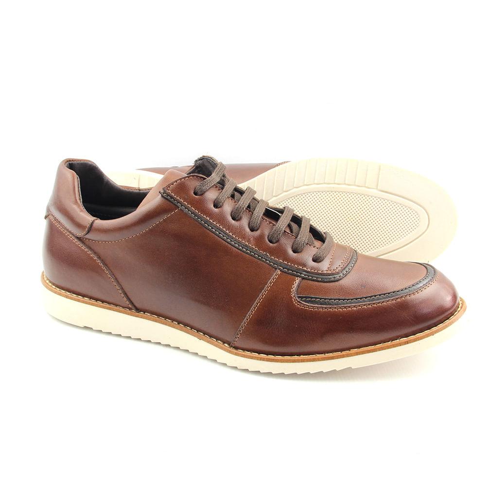 0db6a128a Sapato Casual Masculino 8403 Pinhão - Perlatto