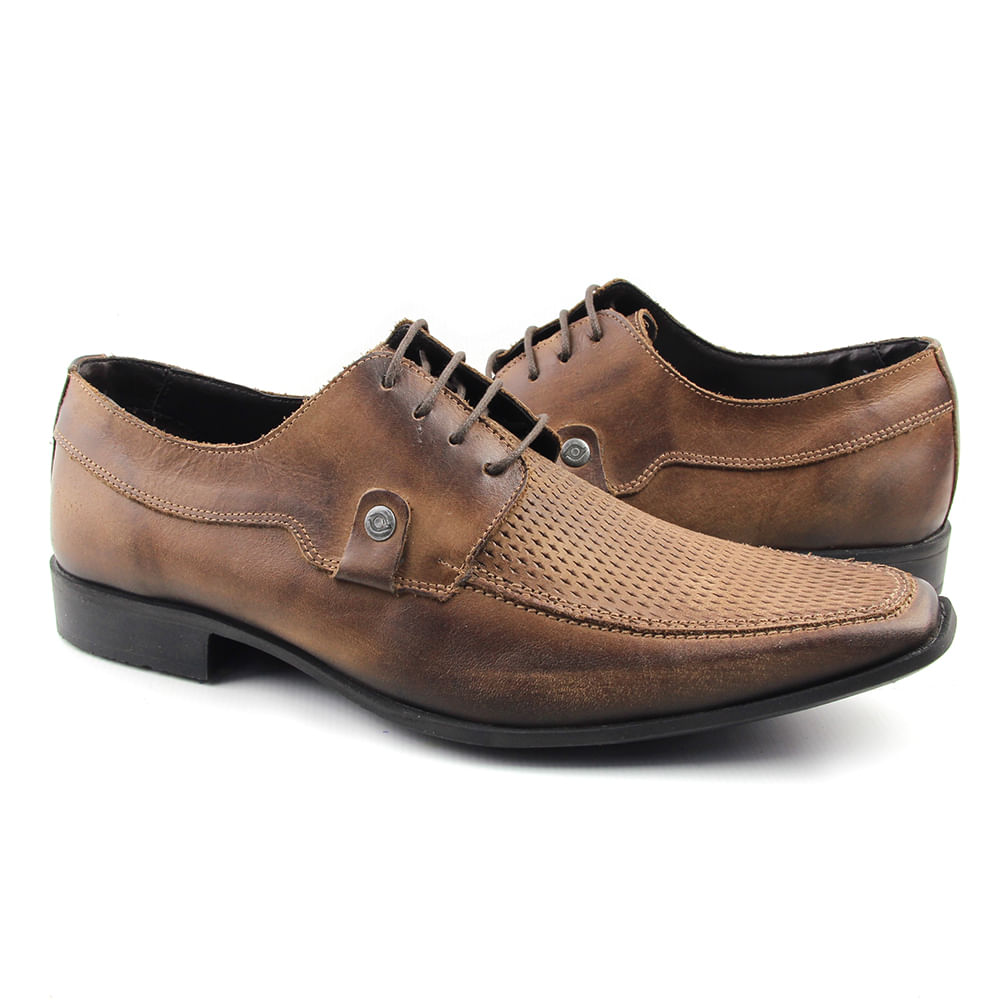 a218e26719 Sapato Casual Masculino 1883 Tabaco Old - Perlatto